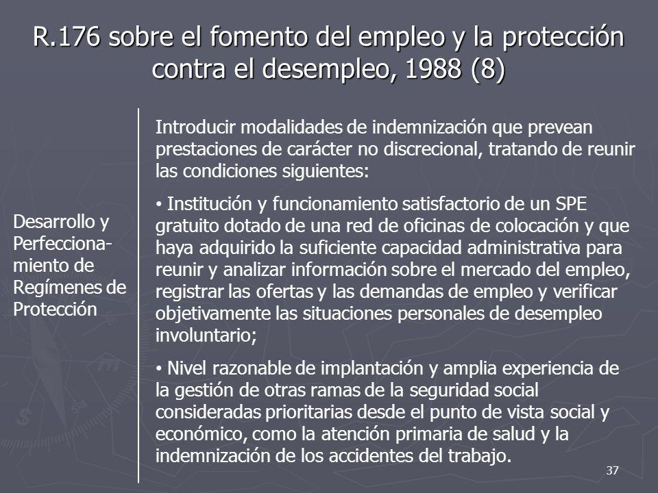 R.176 sobre el fomento del empleo y la protección contra el desempleo, 1988 (8)