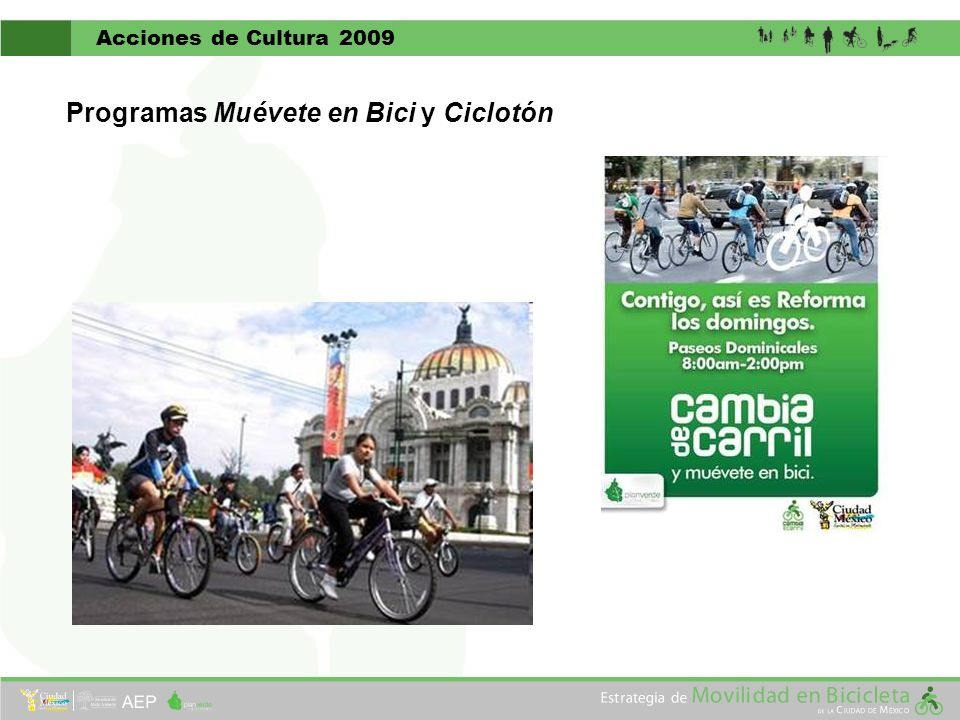 Programas Muévete en Bici y Ciclotón