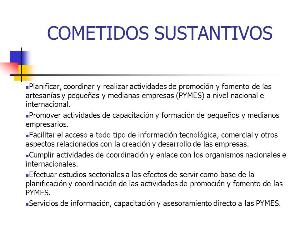 COMETIDOS SUSTANTIVOS