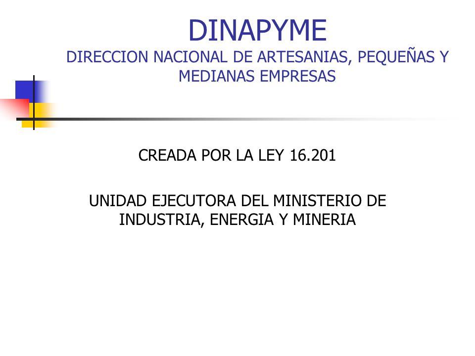 UNIDAD EJECUTORA DEL MINISTERIO DE INDUSTRIA, ENERGIA Y MINERIA