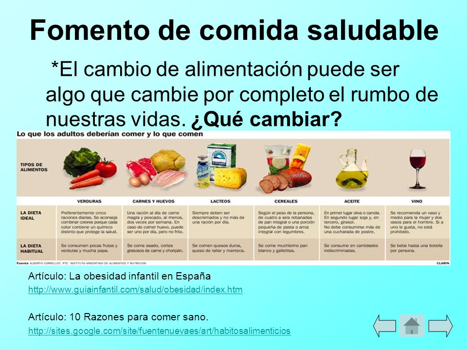Fomento de comida saludable
