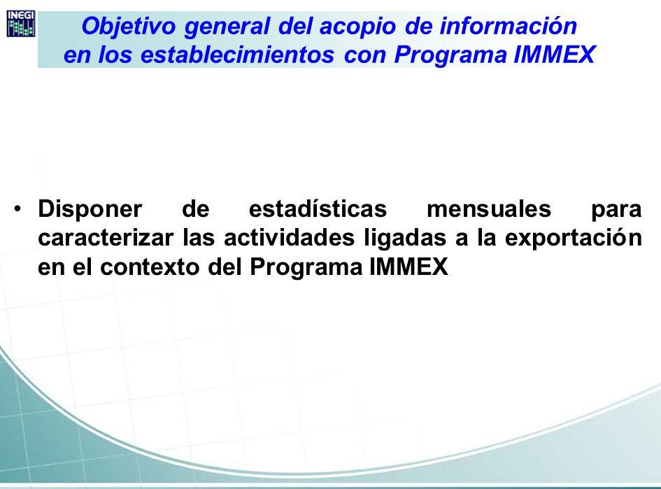 Objetivo general del acopio de información