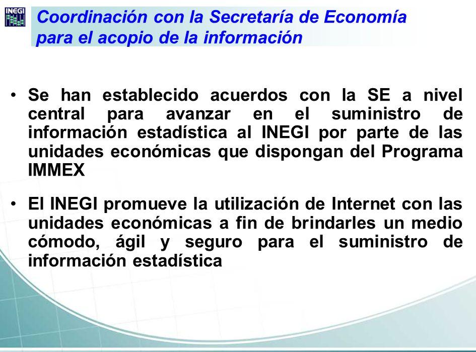 Coordinación con la Secretaría de Economía