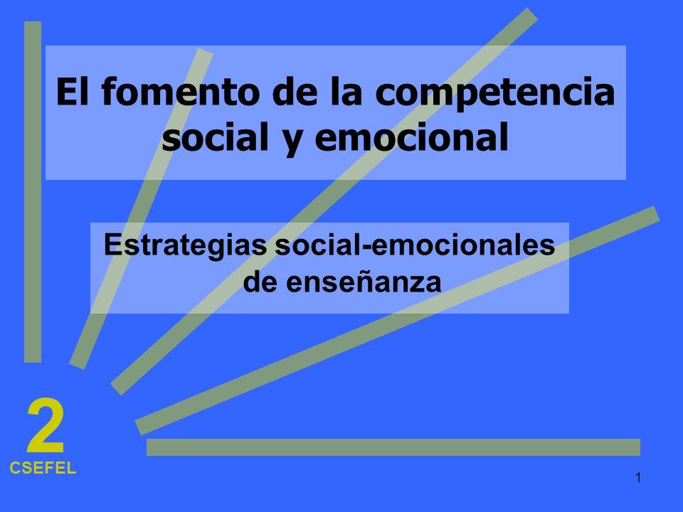 2 El fomento de la competencia social y emocional