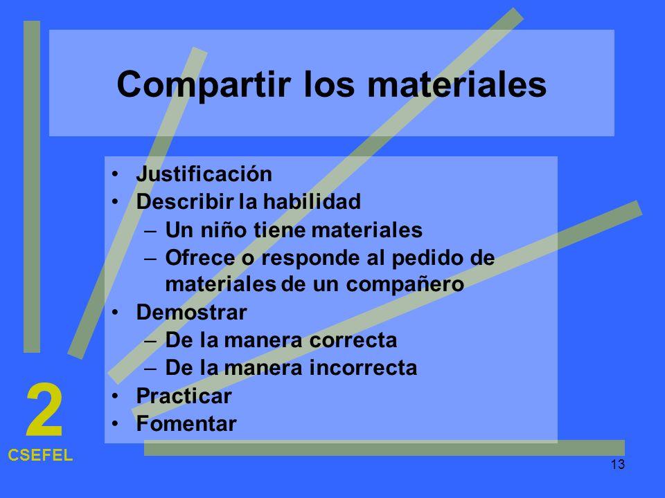 Compartir los materiales