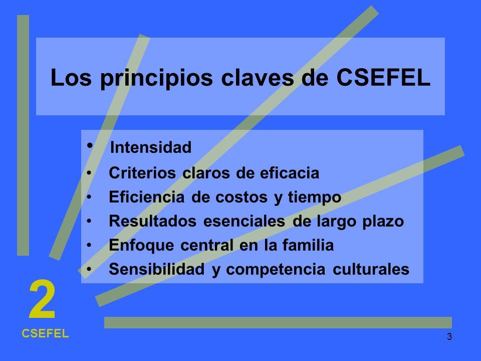 Los principios claves de CSEFEL