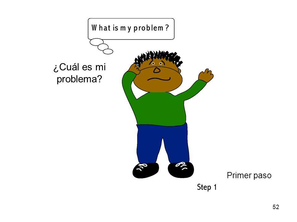 ¿Cuál es mi problema Primer paso