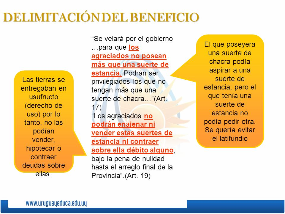 DELIMITACIÓN DEL BENEFICIO