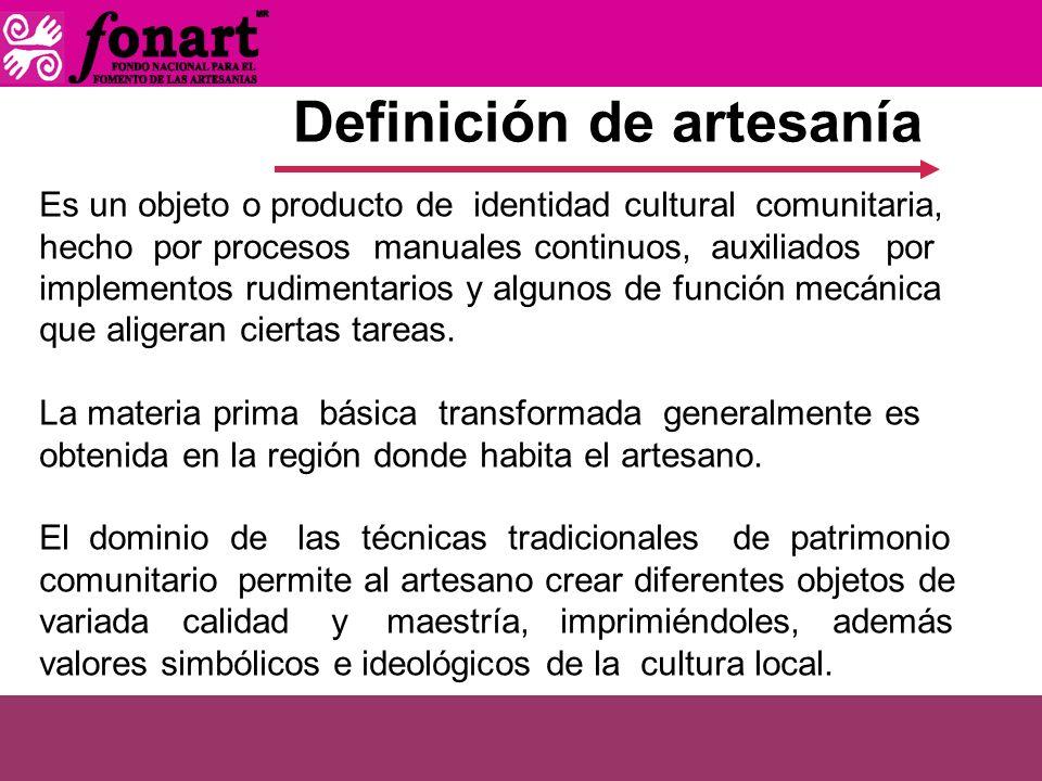 Definición de artesanía
