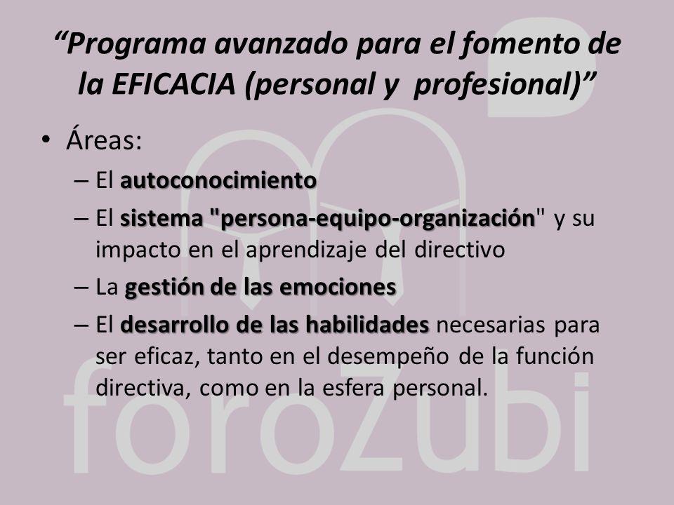 Programa avanzado para el fomento de la EFICACIA (personal y profesional)