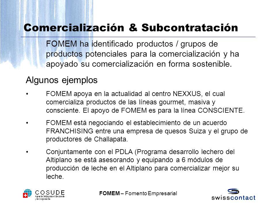 Comercialización & Subcontratación