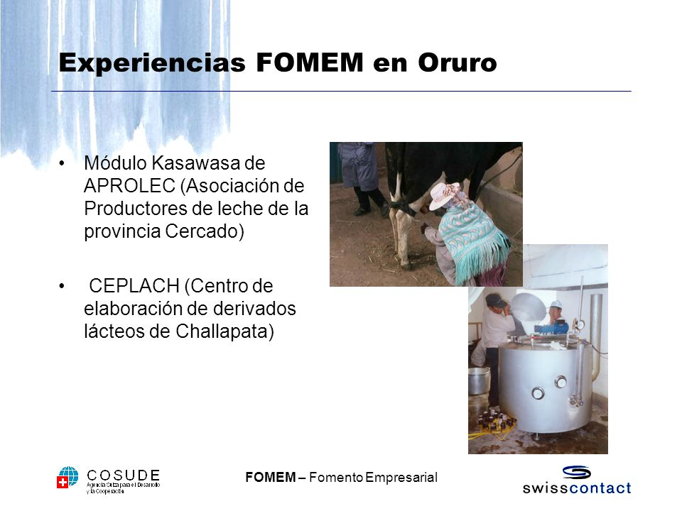 Experiencias FOMEM en Oruro