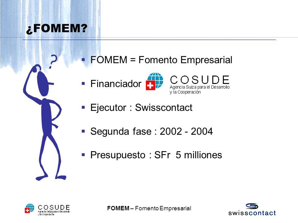 ¿FOMEM FOMEM = Fomento Empresarial Financiador :