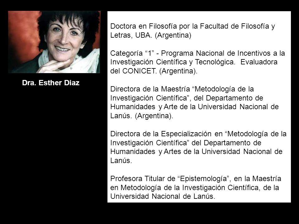 Doctora en Filosofía por la Facultad de Filosofía y Letras, UBA