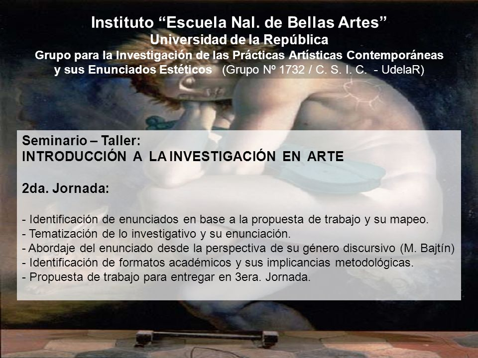 Instituto Escuela Nal. de Bellas Artes