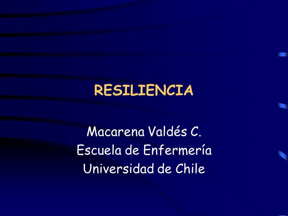 Macarena Valdés C. Escuela de Enfermería Universidad de Chile