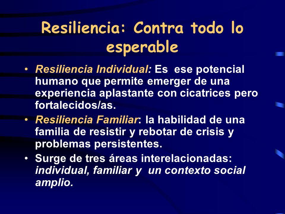Resiliencia: Contra todo lo esperable