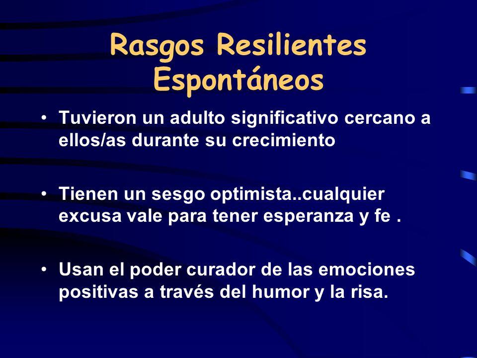Rasgos Resilientes Espontáneos