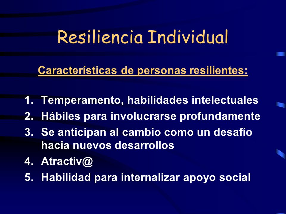 Resiliencia Individual
