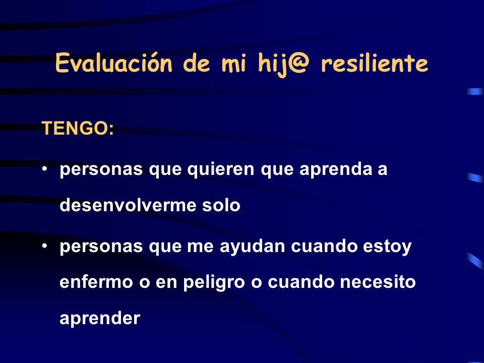 Evaluación de mi hij@ resiliente