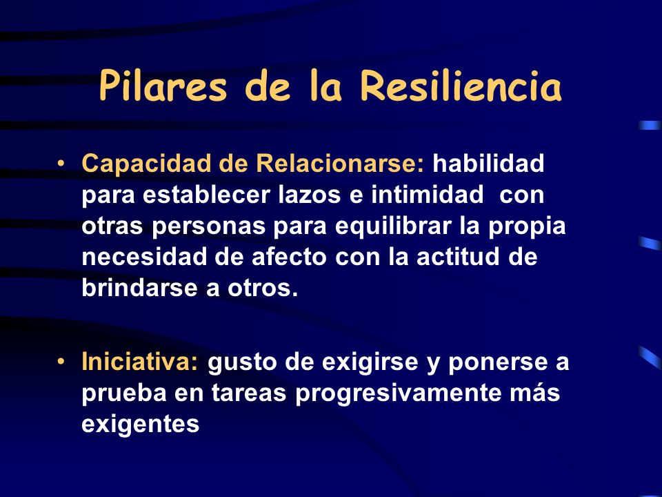 Pilares de la Resiliencia