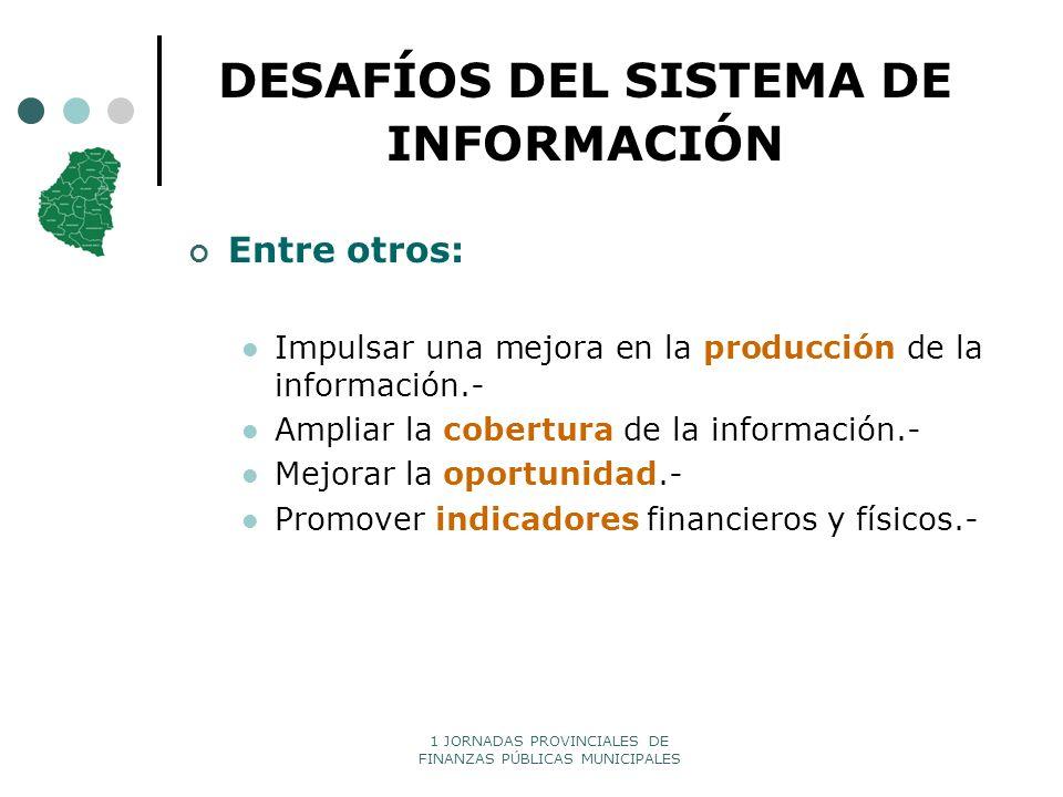 DESAFÍOS DEL SISTEMA DE INFORMACIÓN