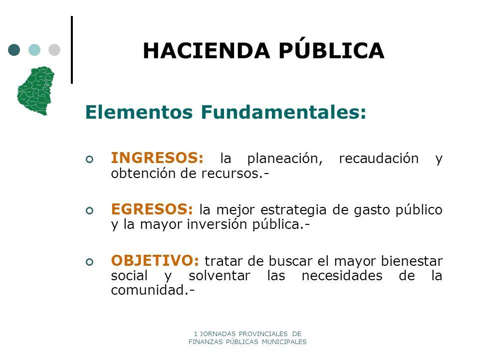 HACIENDA PÚBLICA Elementos Fundamentales: