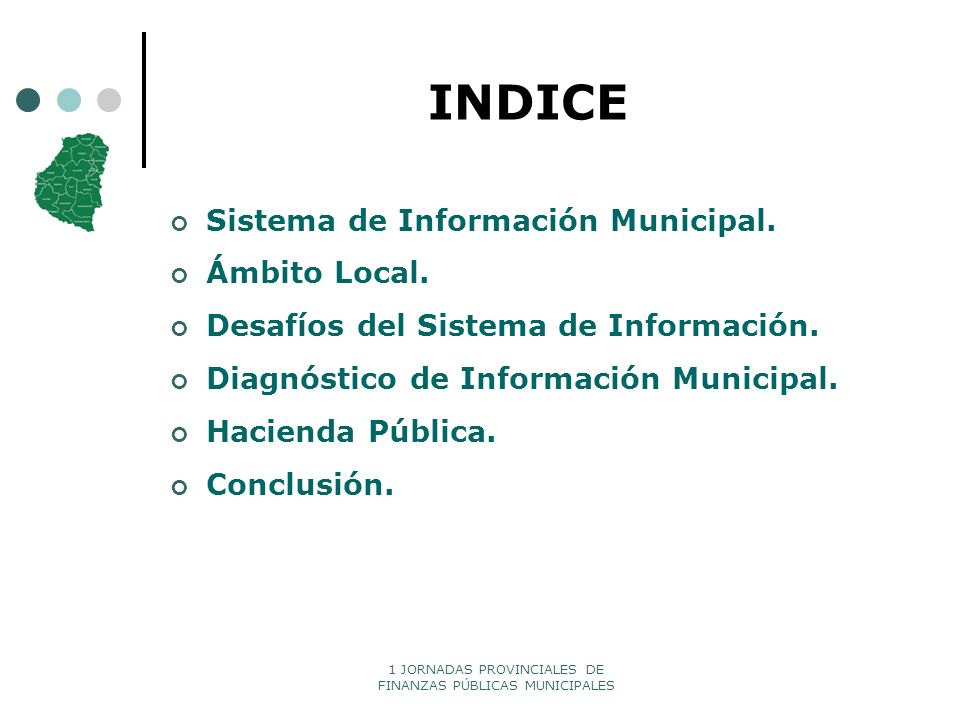 INDICE Sistema de Información Municipal. Ámbito Local.