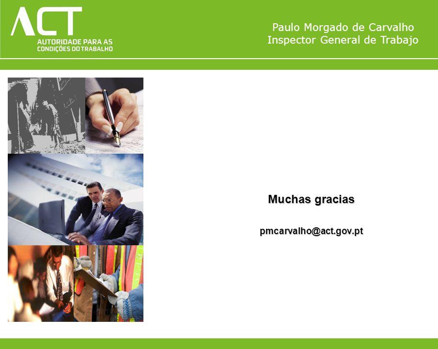 Muchas gracias pmcarvalho@act.gov.pt