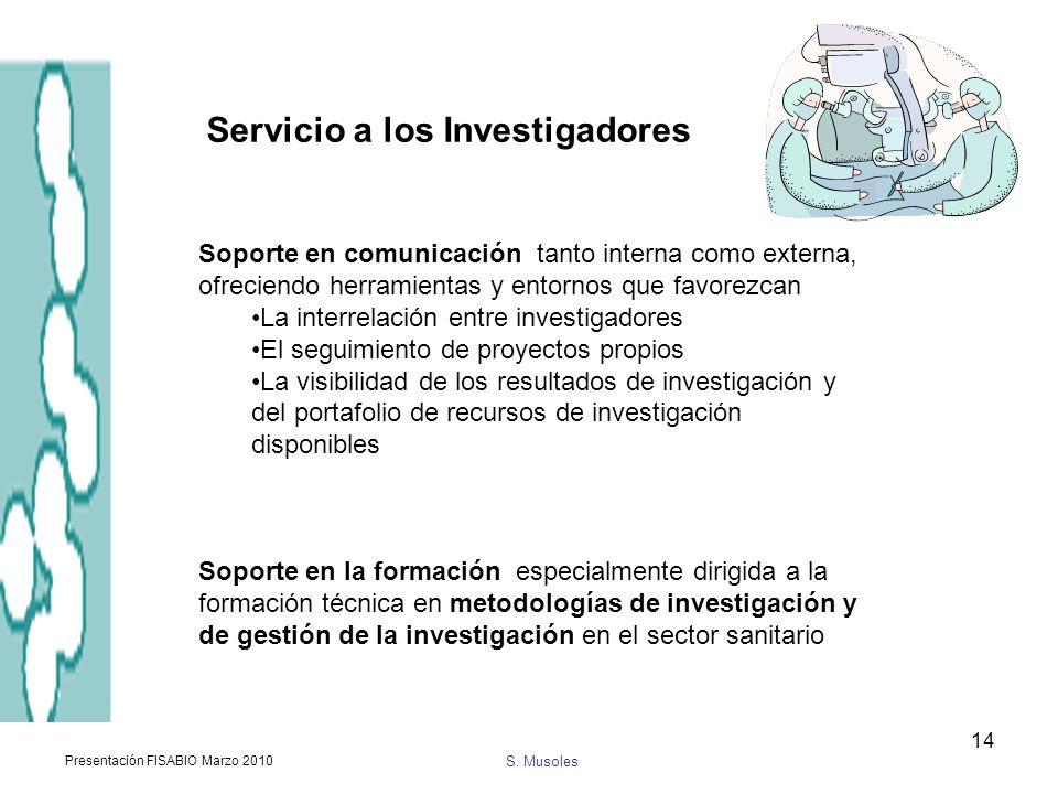 Servicio a los Investigadores