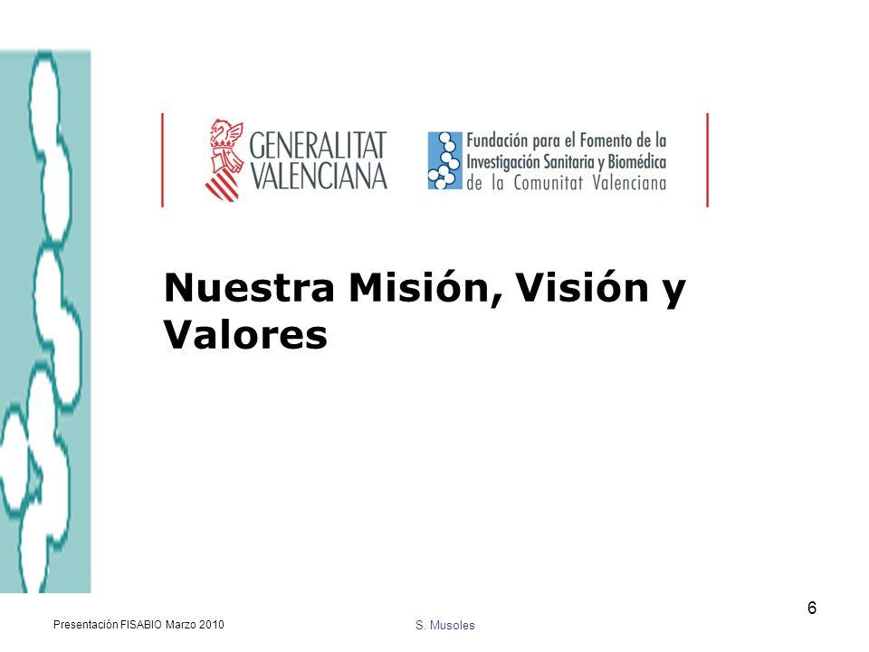 Nuestra Misión, Visión y Valores