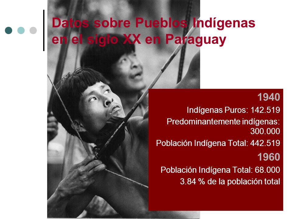 Datos sobre Pueblos Indígenas en el siglo XX en Paraguay