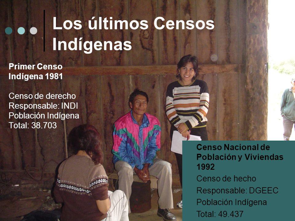 Los últimos Censos Indígenas