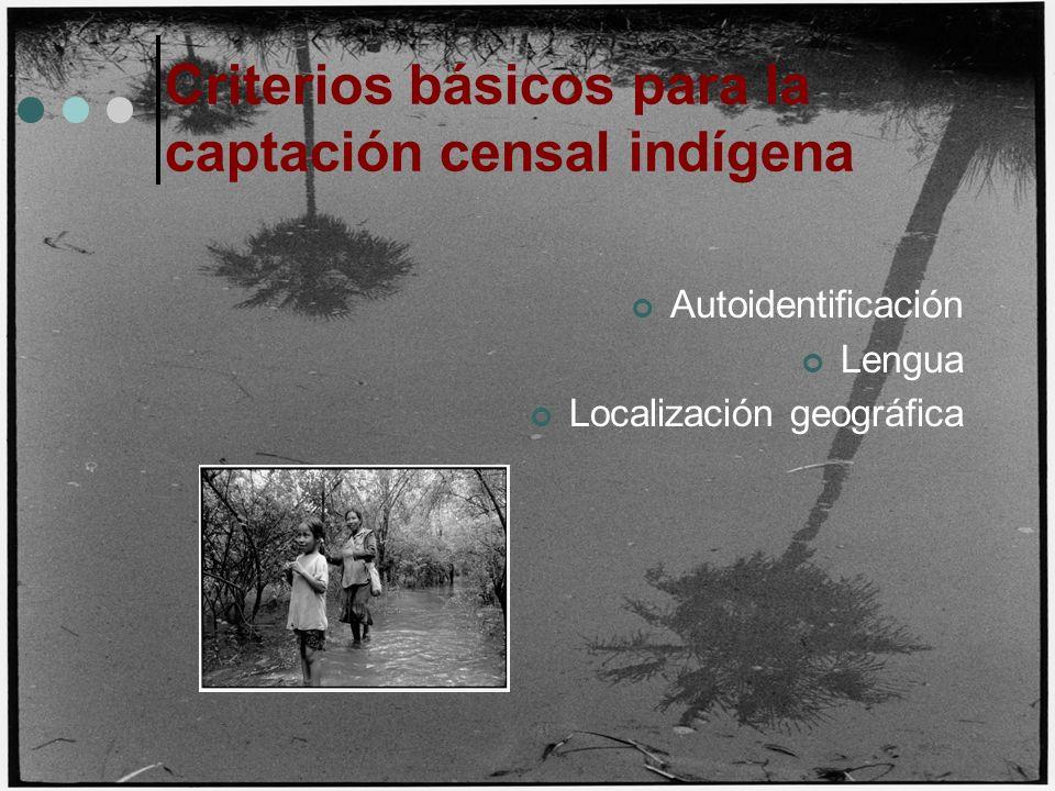 Criterios básicos para la captación censal indígena