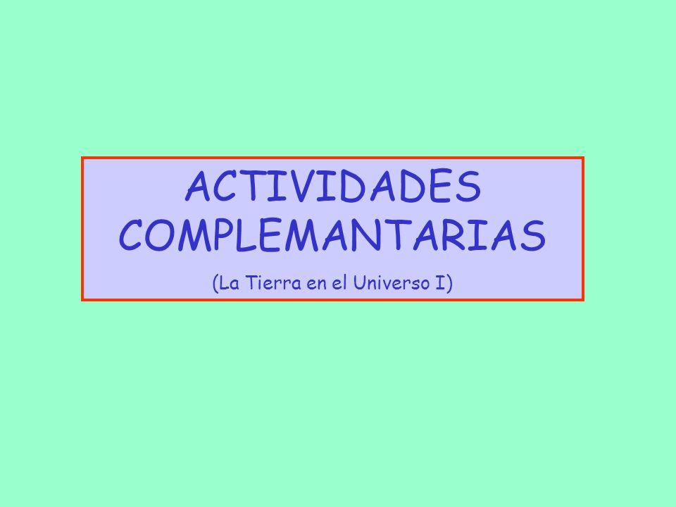 ACTIVIDADES COMPLEMANTARIAS
