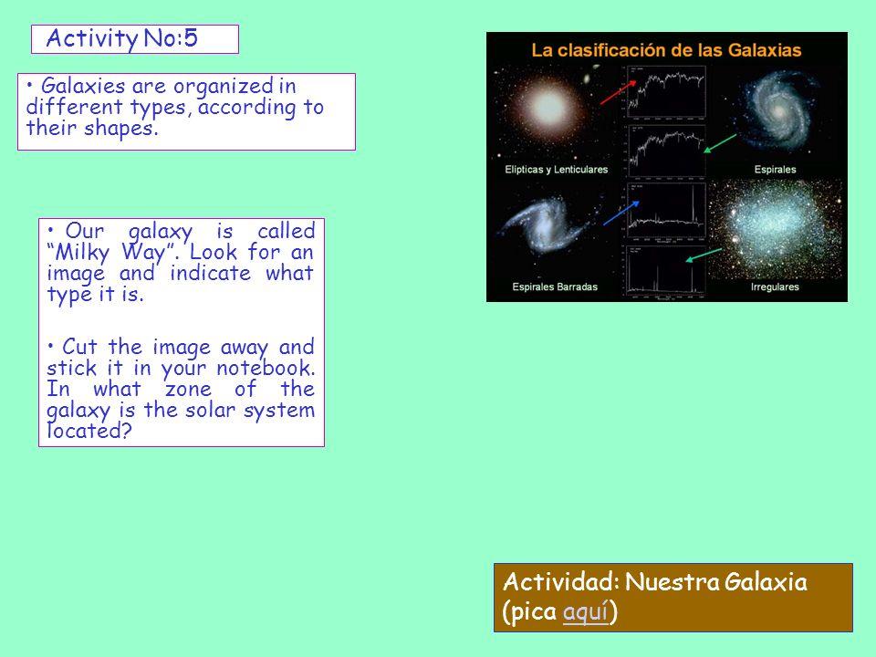 Actividad: Nuestra Galaxia (pica aquí)