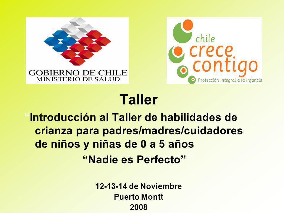 Taller Introducción al Taller de habilidades de crianza para padres/madres/cuidadores de niños y niñas de 0 a 5 años.