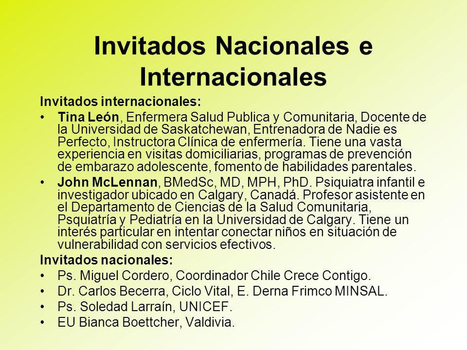 Invitados Nacionales e Internacionales