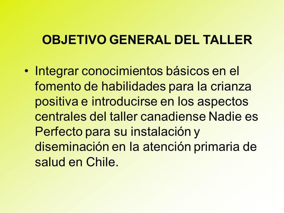 OBJETIVO GENERAL DEL TALLER