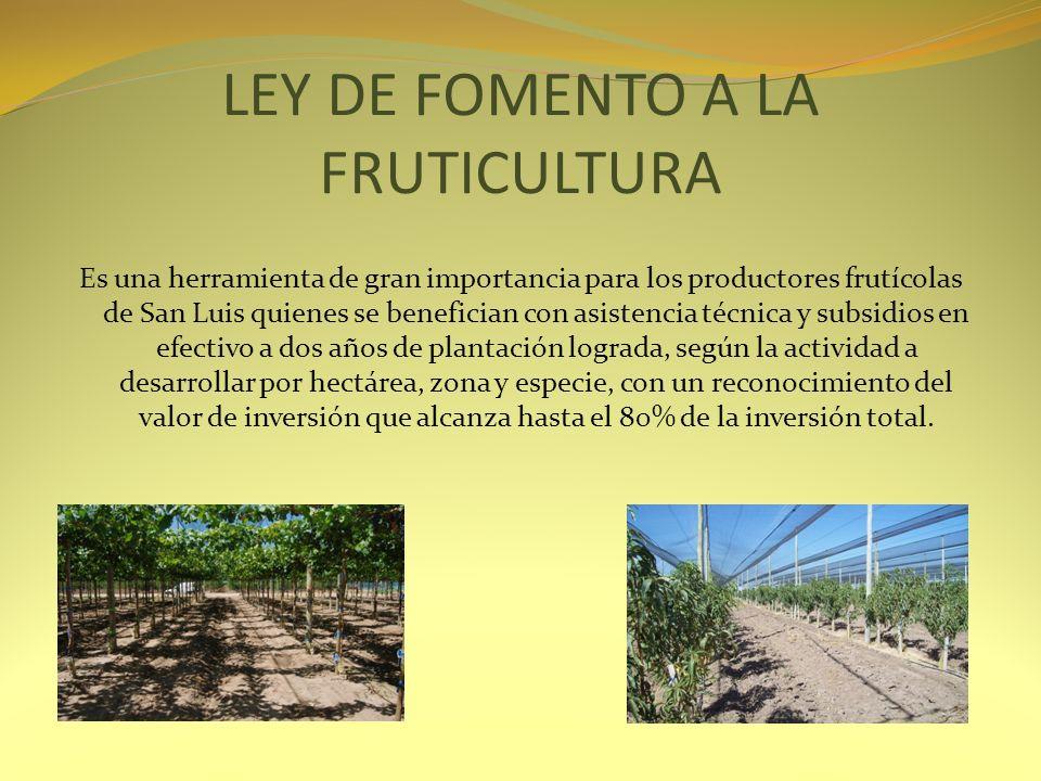 LEY DE FOMENTO A LA FRUTICULTURA