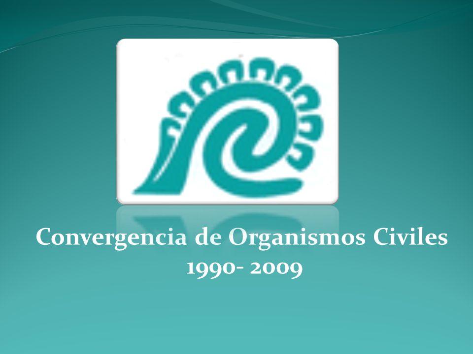 Convergencia de Organismos Civiles 1990- 2009