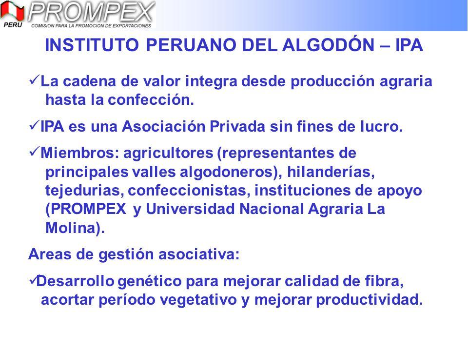 INSTITUTO PERUANO DEL ALGODÓN – IPA