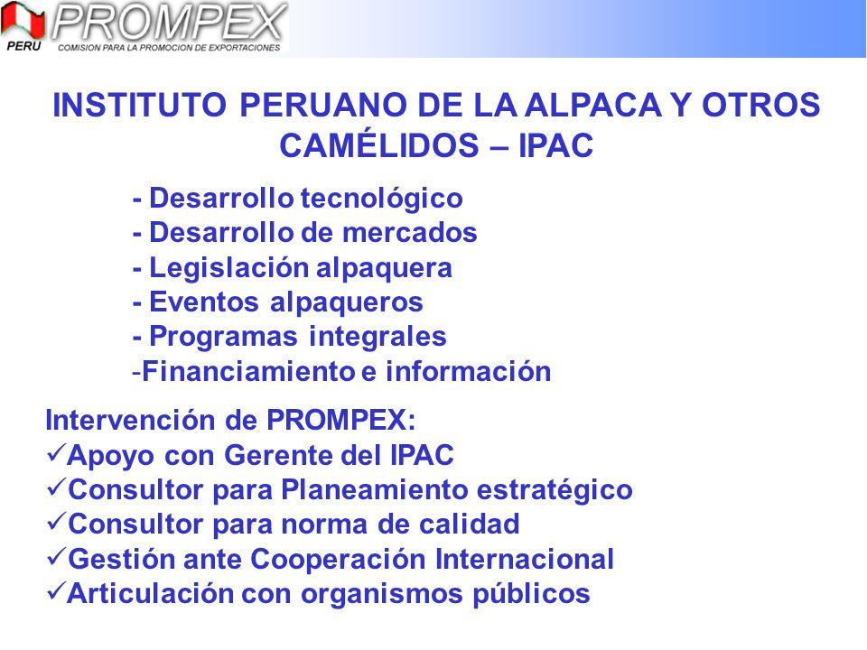 INSTITUTO PERUANO DE LA ALPACA Y OTROS CAMÉLIDOS – IPAC