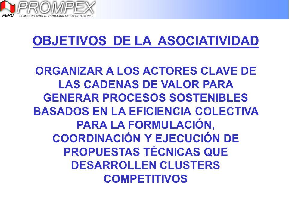 OBJETIVOS DE LA ASOCIATIVIDAD