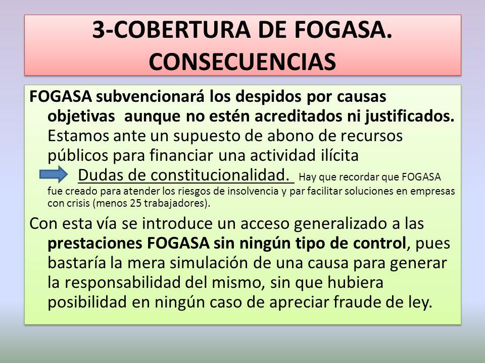 3-COBERTURA DE FOGASA. CONSECUENCIAS
