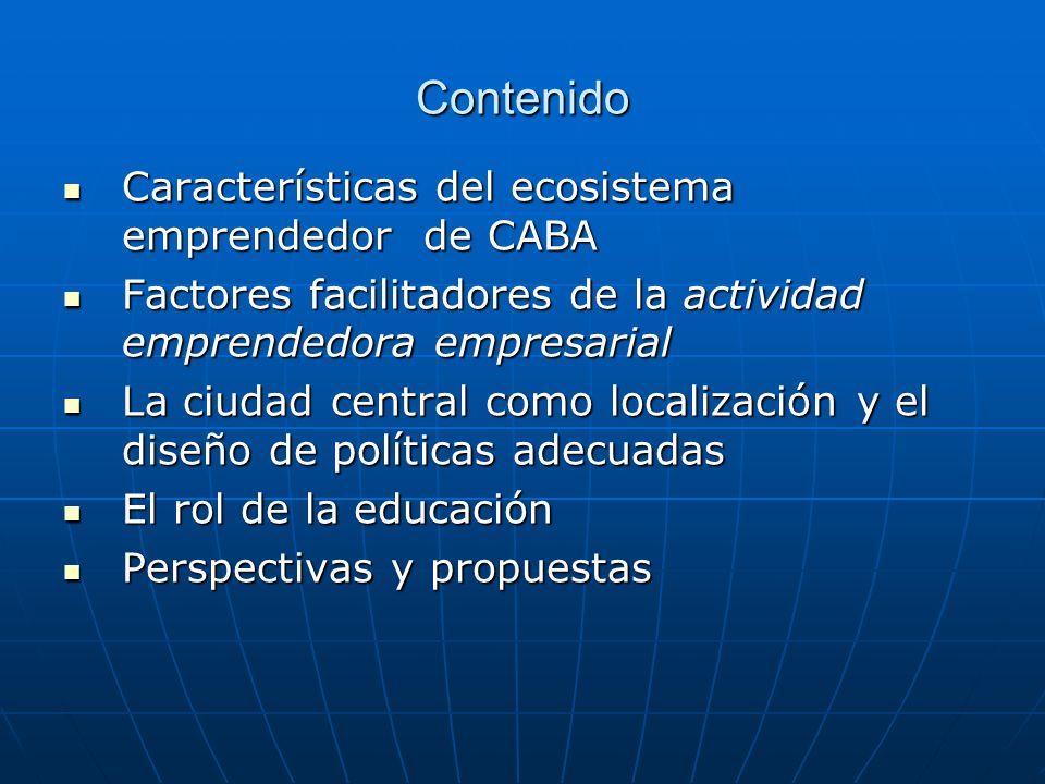 Contenido Características del ecosistema emprendedor de CABA