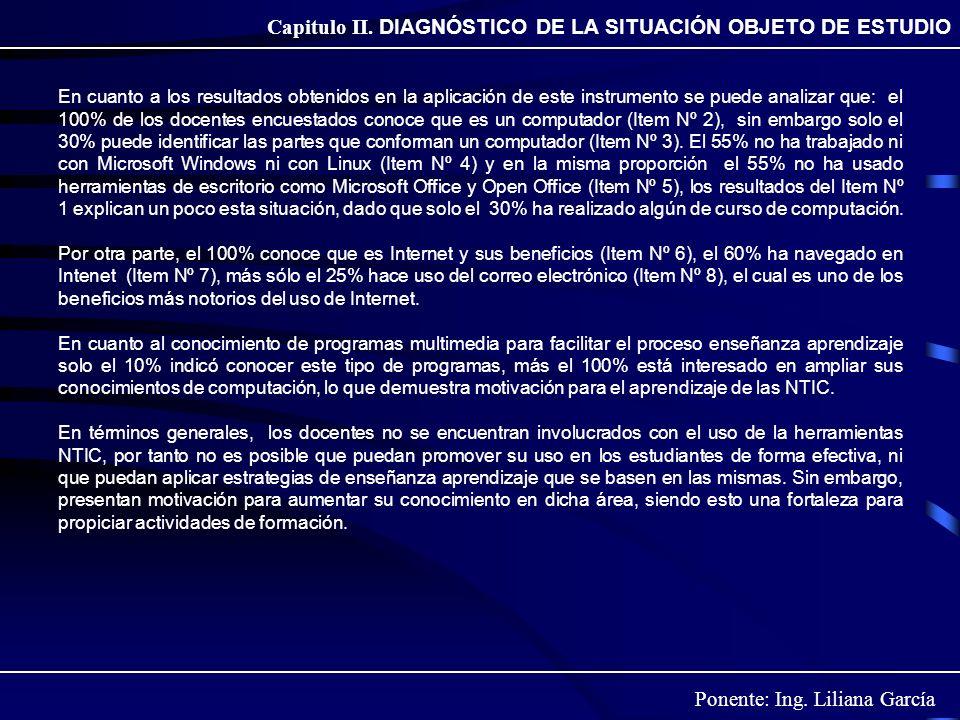 Capitulo II. DIAGNÓSTICO DE LA SITUACIÓN OBJETO DE ESTUDIO