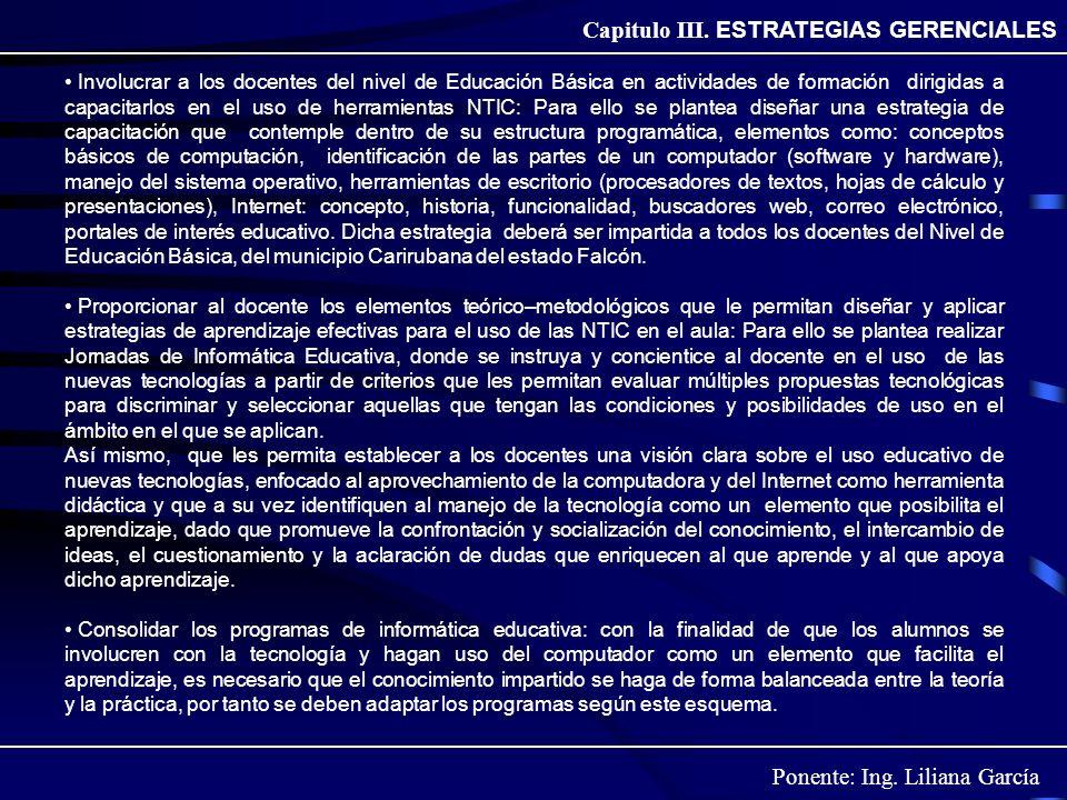 Capitulo III. ESTRATEGIAS GERENCIALES