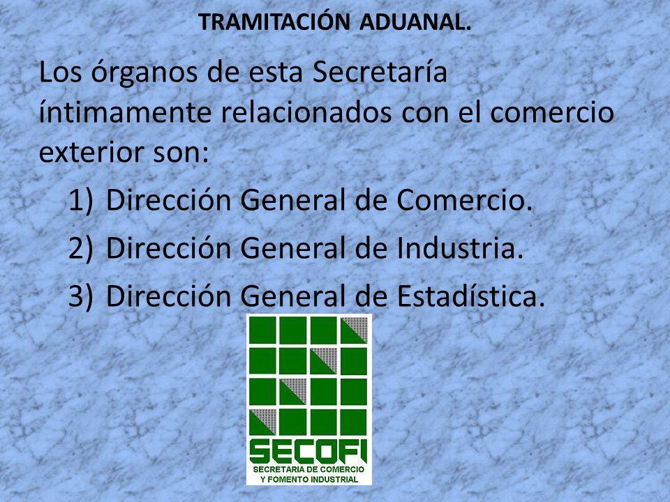 Dirección General de Comercio. Dirección General de Industria.