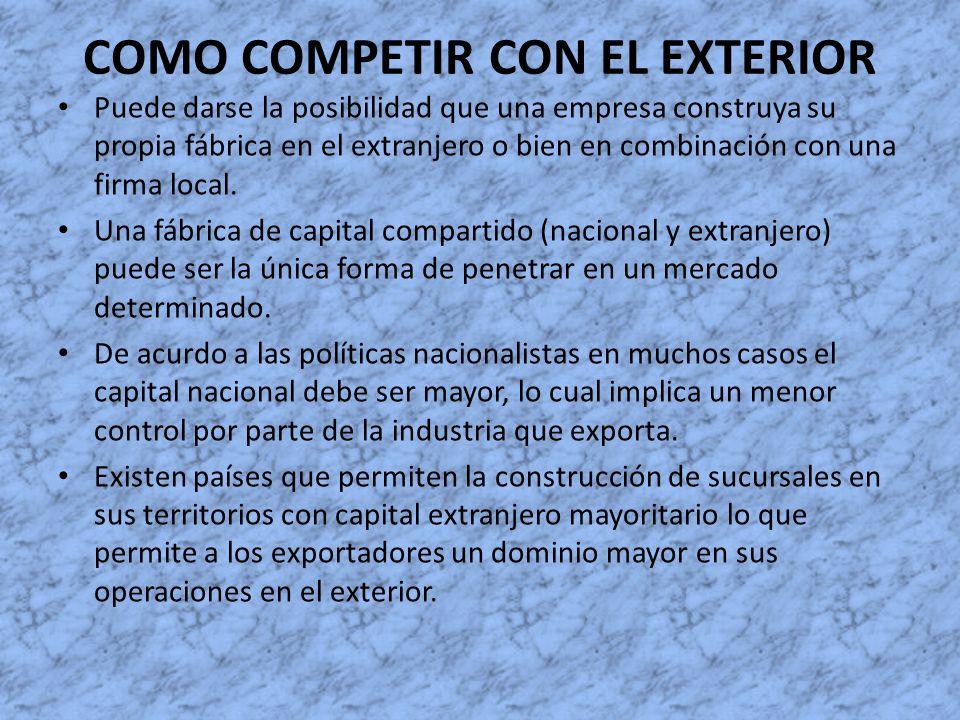 COMO COMPETIR CON EL EXTERIOR